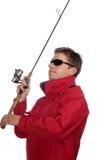 Pescador con el giro Fotos de archivo