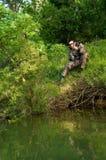 Pescador da água fresca Fotos de Stock Royalty Free