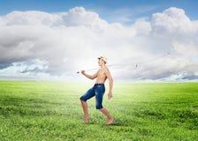 Pescador da criança Fotografia de Stock Royalty Free