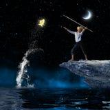 Pescador da criança Imagens de Stock Royalty Free