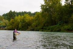 Pescador da mosca Imagem de Stock Royalty Free