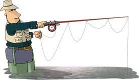 Pescador da mosca ilustração do vetor