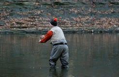 Pescador da mosca Fotos de Stock Royalty Free