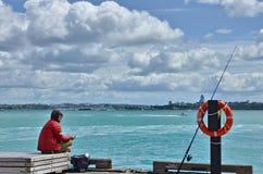 Pescador de Auckland Foto de archivo libre de regalías