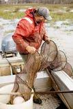 Pescador de la anguila Fotos de archivo