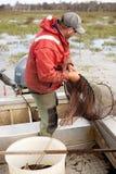 Pescador de la anguila Imágenes de archivo libres de regalías