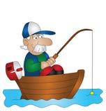 Pescador de la historieta ilustración del vector