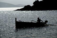 Pescador de la mañana Imagen de archivo libre de regalías