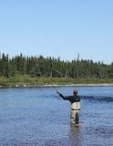 Pescador de la mosca Imagen de archivo libre de regalías