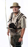 Pescador de la mosca Foto de archivo