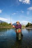 Pescador de la mosca Foto de archivo libre de regalías