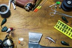 Pescador de los accesorios Imágenes de archivo libres de regalías