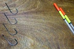 Pescador de los accesorios Fotografía de archivo