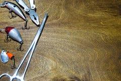 Pescador de los accesorios Fotos de archivo libres de regalías