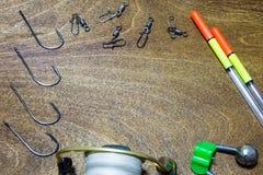 Pescador de los accesorios Imagen de archivo libre de regalías
