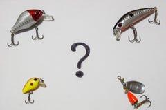 Pescador de los accesorios Foto de archivo libre de regalías