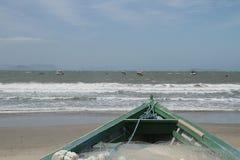 Pescador de los barcos Imagen de archivo libre de regalías