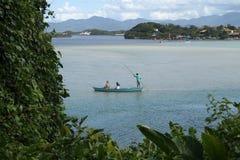 Pescador de los barcos Foto de archivo libre de regalías