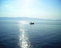 Pescador de Ohrid imagen de archivo