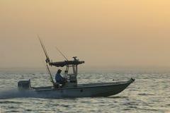 Pescador de pressa Imagens de Stock