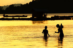Pescador de Tailândia Imagens de Stock Royalty Free