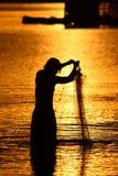 Pescador de Tailândia Foto de Stock