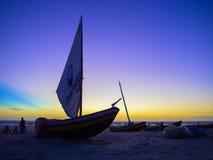 Pescador del barco Fotos de archivo libres de regalías