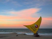 Pescador del barco Foto de archivo libre de regalías