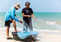 Pescador del barco rastreador Fotos de archivo libres de regalías