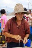 Pescador del chino tradicional Imagen de archivo libre de regalías