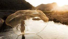 Pescador del lago fotografía de archivo libre de regalías