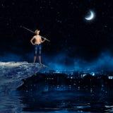 Pescador del niño Fotos de archivo