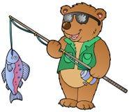 Pescador del oso de la historieta stock de ilustración
