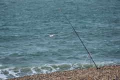 Pescador del pescador del mar - sus barras Fotos de archivo