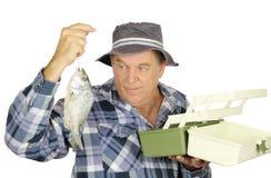 Pescador del rectángulo de trastos imágenes de archivo libres de regalías