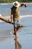 Pescador del tubo Fotos de archivo libres de regalías