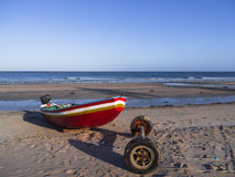 Pescador do barco Foto de Stock