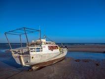 Pescador do barco Imagem de Stock