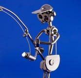 Pescador do metal Fotos de Stock