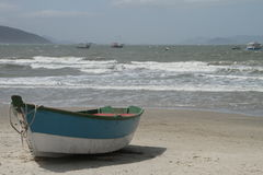 Pescador dos barcos Fotografia de Stock Royalty Free
