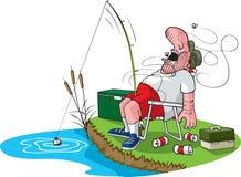 Pescador durmiente ilustración del vector