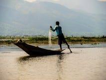 Pescador em Inley Fotos de Stock