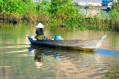 Pescador em Kompong Thom, Cambodia. Imagem de Stock Royalty Free