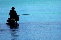 Pescador em Maurícia Foto de Stock