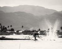 Pescador en-EL Lago Inle Lizenzfreie Stockfotografie