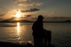 Pescador en el songkhla Tailandia Fotos de archivo libres de regalías