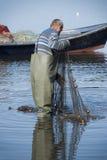 Pescador en el trabajo Foto de archivo libre de regalías