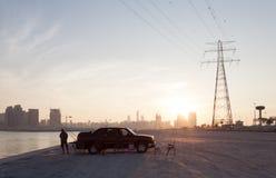 Pescador en la Costa del Golfo árabe Fotografía de archivo libre de regalías