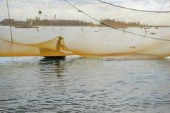Pescador en la playa de Cua Dai Fotografía de archivo libre de regalías