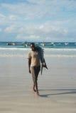 Pescador en Somalia Foto de archivo